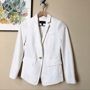 J. Crew Regent Blazer White Linen Size 00P